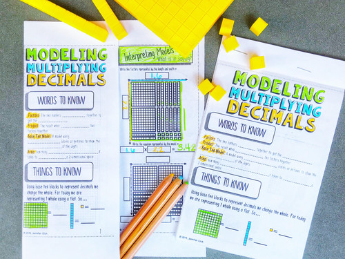 Modeling Multiplying Decimals Notes: Base Ten Blocks
