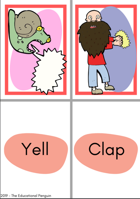 Flash Cards: Action Verbs
