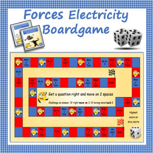 Forces - 48 Question Board Game for Middle School Science