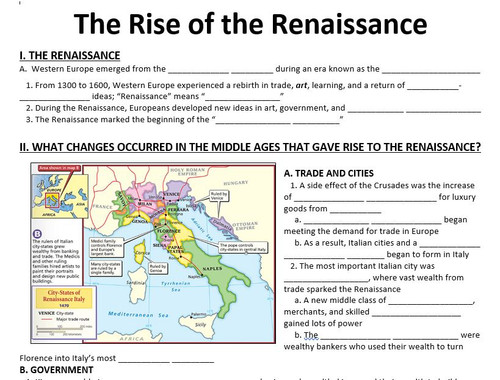The Rise of the Renaissance - Powerpoint and Guided Notes