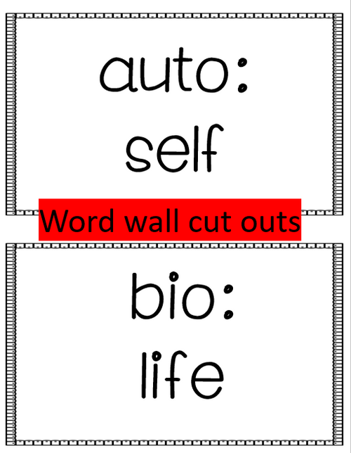 Prefixes and Vocabulary in Context