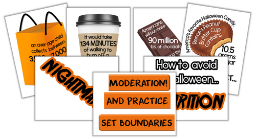 October Health-Themed Bulletin Board for Nutrition- Just print, cut and display!
