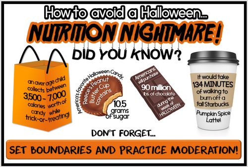 TWO BUNDLED October Health-Themed Bulletin Board- Just print, cut and display!