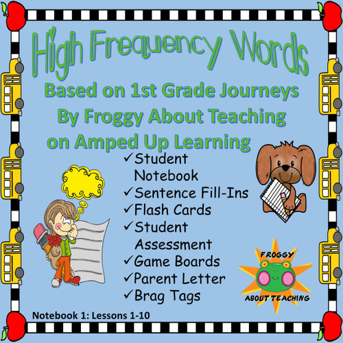 1st g. High Frequency Words: Notebook 1 (Journeys L1-10)
