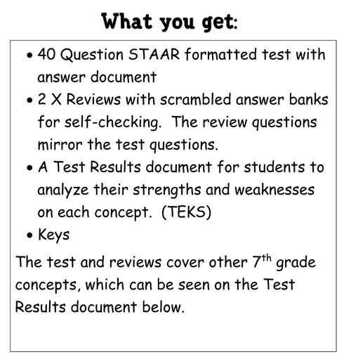 7th Grade Math Data Tests and Reviews