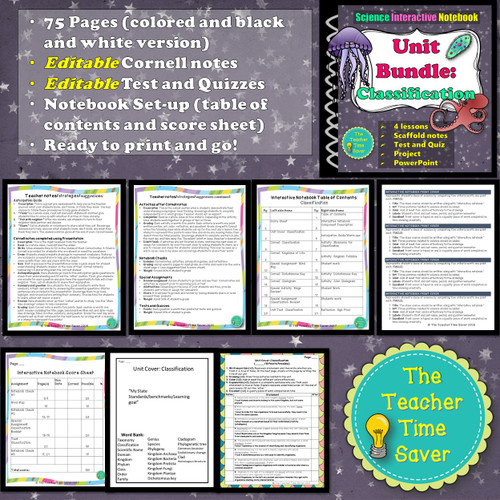 CLASSIFICATION OF LIVING THINGS INTERACTIVE NOTEBOOK