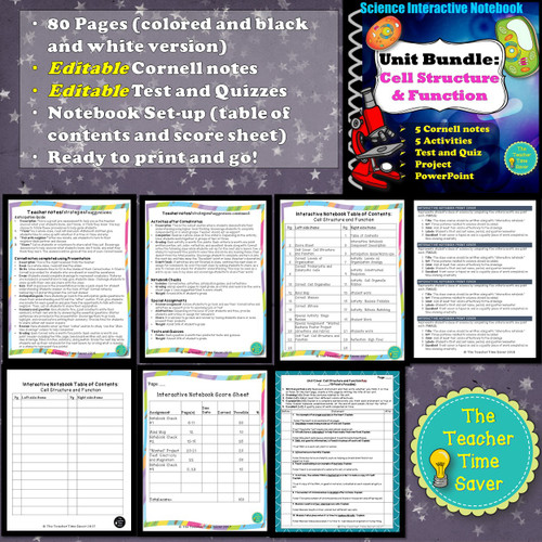 BIOLOGY INTERACTIVE NOTEBOOK BUNDLE- COMPLETE CURRICULUM FOR ENTIRE YEAR