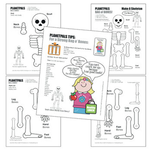 Halloween bone health lesson pages 5 in all