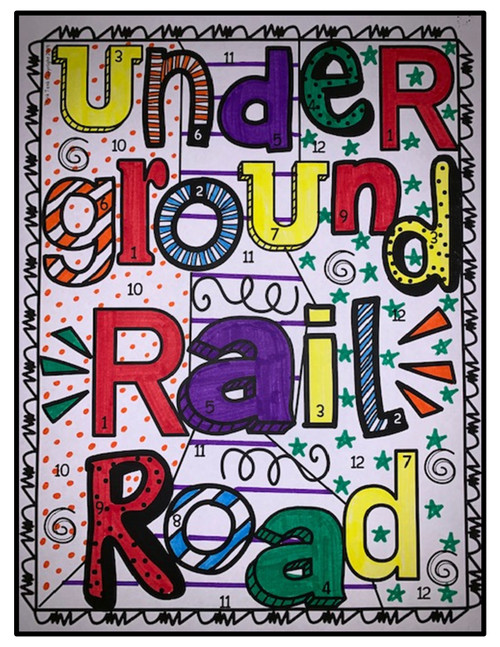 Underground Railroad Color by Number, Reading Passage and Text Marking