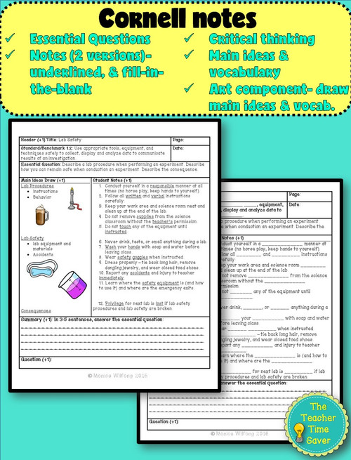 Scientific Investigation Lesson- Lab Safety {FREE}