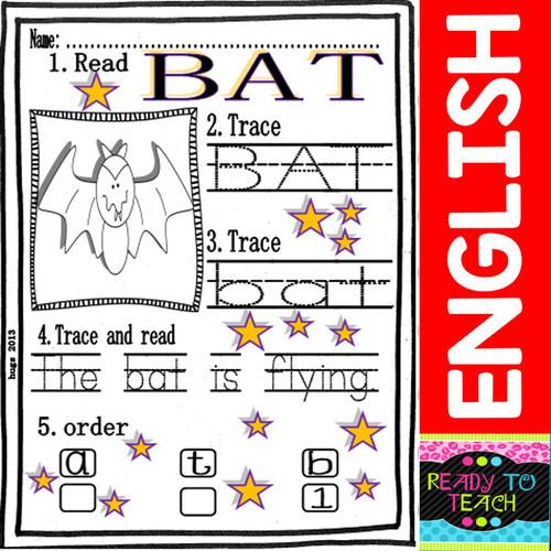 Halloween Free Word Work Mini-Set for Little Kids - FREE