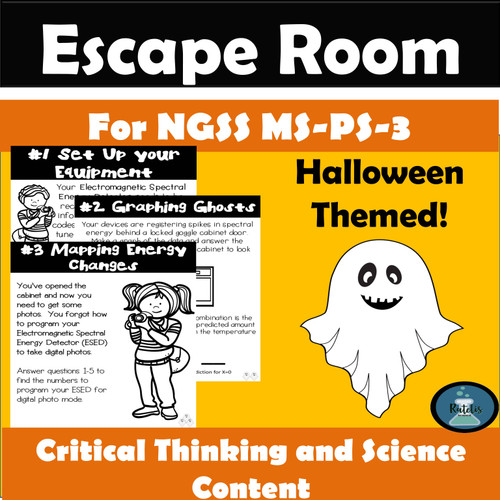 "Escape Room: NGSS MS PS-3 ""Haunted School House Hunters"""