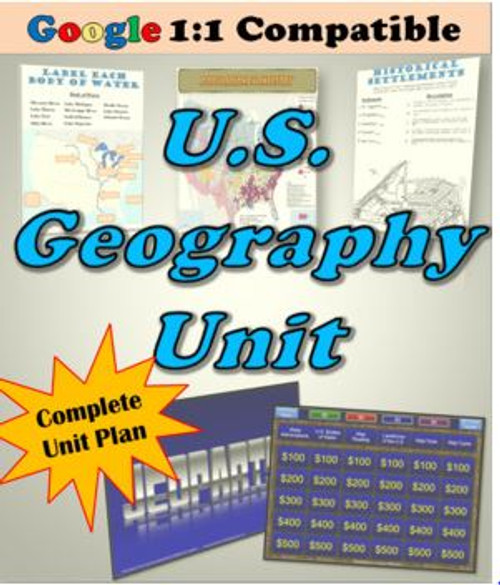 Receive EVERYTHING you need to cover the intro to U.S. Geography!