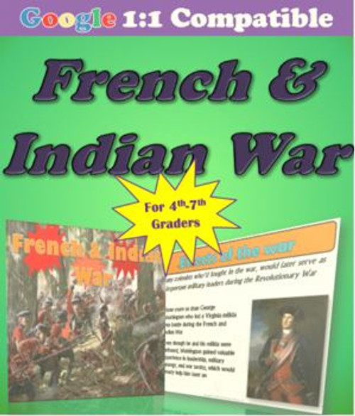Receive EVERYTHING you need to cover the French and Indian War!