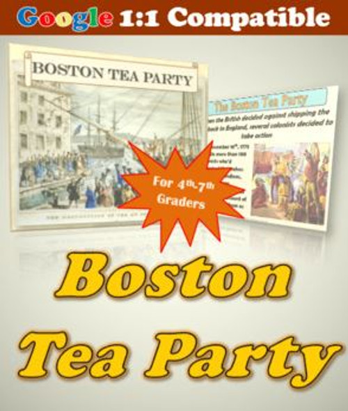 Receive EVERYTHING you need to explore the Boston Tea Party with your students!