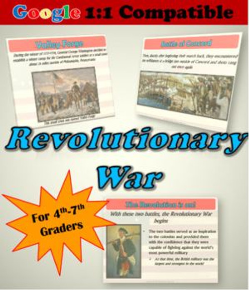 Receive EVERYTHING you need to explore the Revolutionary War with your students!