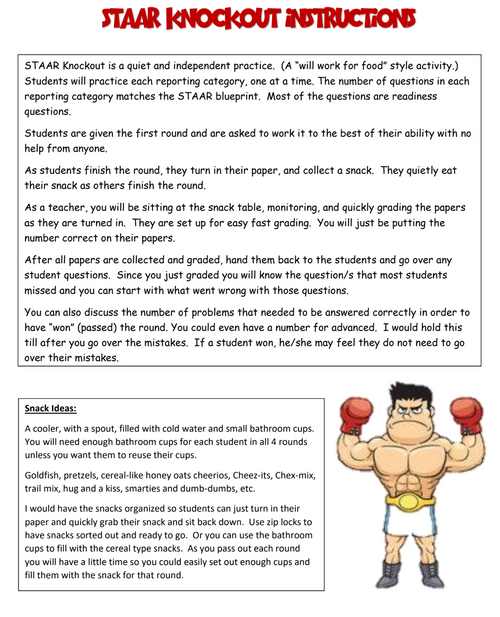 7th Grade Math STAAR Knock-Out