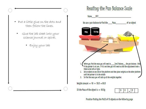 Reading and Pan Balance Scale