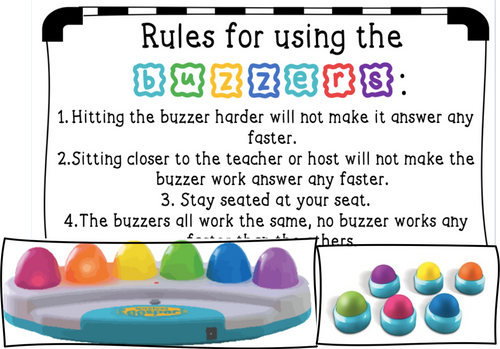 Buzzers Printable for Gameshow Lessons - FREE