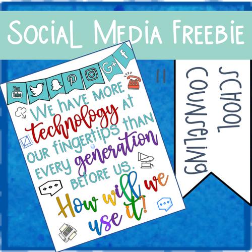 Social Media Sign Freebie