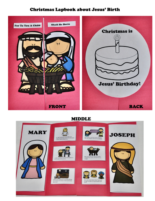 Christmas Jesus' Birth Lapbook