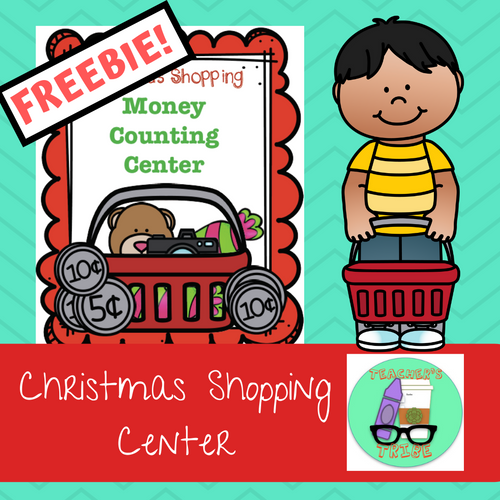 Christmas Shopping Money Counting Center FREEBIE