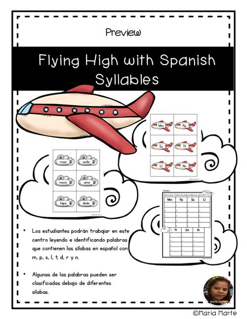Volando Alto con las Sílabas // Flying High with Spanish Syllable Words