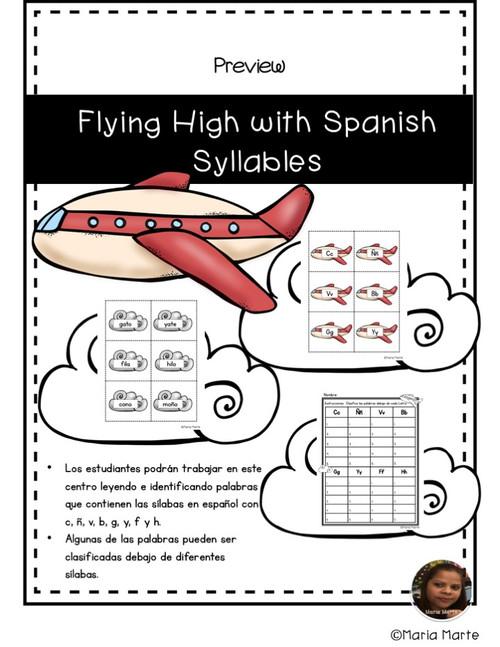 Volando Alto con las Sílabas 2 // Flying High with Spanish Syllable Words 2