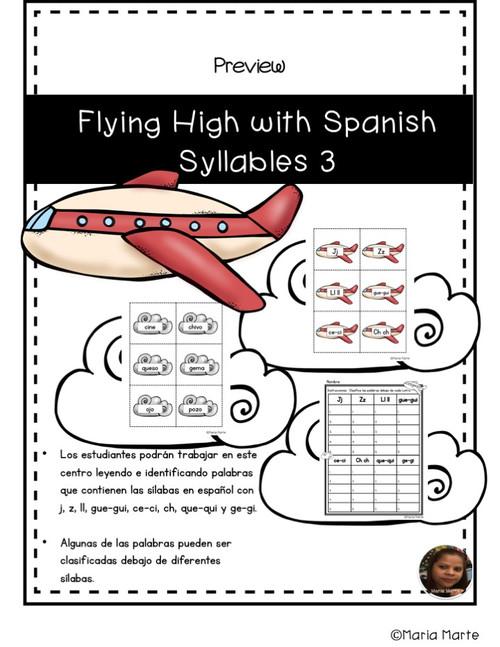 Volando Alto con las Sílabas 3 // Flying High with Spanish Syllable Words 3