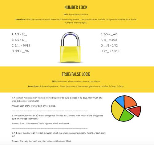 Math Skills Digital Breakout Bundle