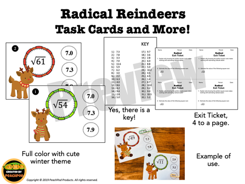 Radical Reindeers: Task Cards and More!
