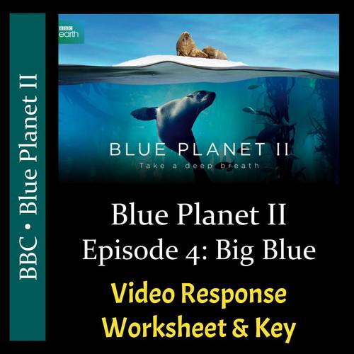 Blue Planet 2 - Episode 4 - Big Blue - Video Response Worksheet & Key