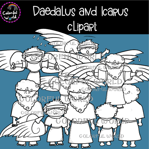 Daedalus and Icarus clipart