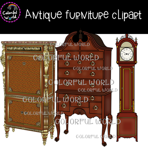 Antique furniture clipart