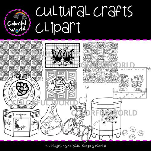 Cultural crafts clipart