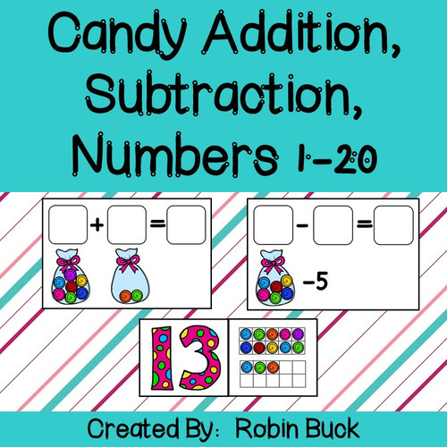 Candy Addition, Subtraction, and Numbers 1-20