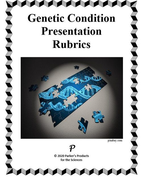 Time-Tested Rubrics Sheet for a Genetic Condition Presentation Project