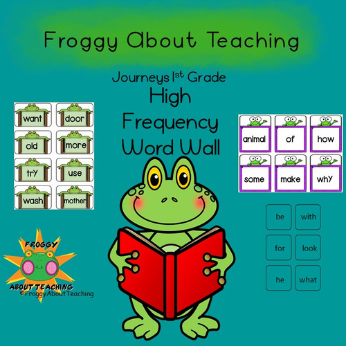 1st g. Froggy Word Wall