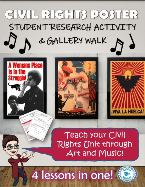 1970s & Civil Rights Movements - Poster & Music Analysis - Gallery Walk