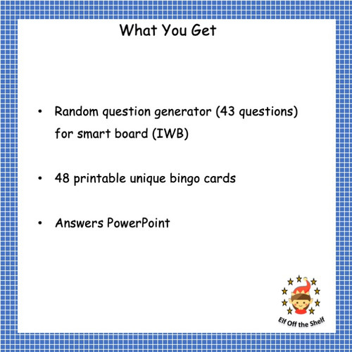 Forces - Smart Board Bingo for Middle School Science