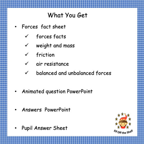 Forces - Pressure, Moments, Speed and Hooke's Law Test Prep for Middle School Science