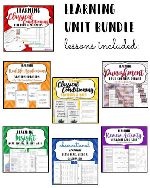 BUNDLE Learning: Psychology Unit