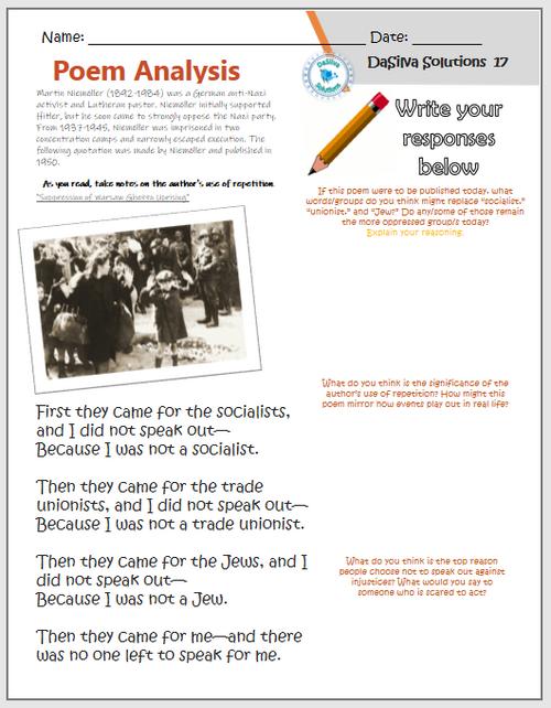 Genocide Unit: The Holocaust - Timeline, Poem Analysis, Propaganda Activity, & more!