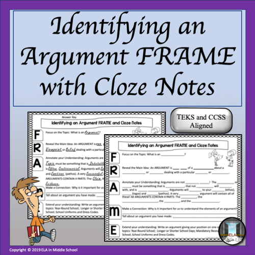 Elements in an Argument: FRAMEs, CLOZE Notes and Prezi