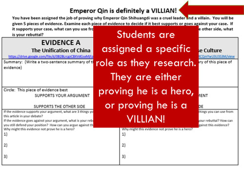 First Emperor Qin Evidence Analysis: Hero or Villain?