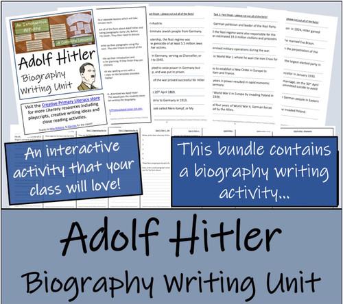 Adolf Hitler - 5th & 6th Grade Close Read & Biography Writing Bundle