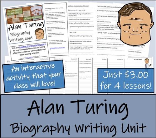 Alan Turing - 5th & 6th Grade Biography Writing Activity