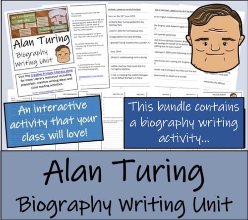Alan Turing - 5th & 6th Grade Close Read & Biography Writing Bundle