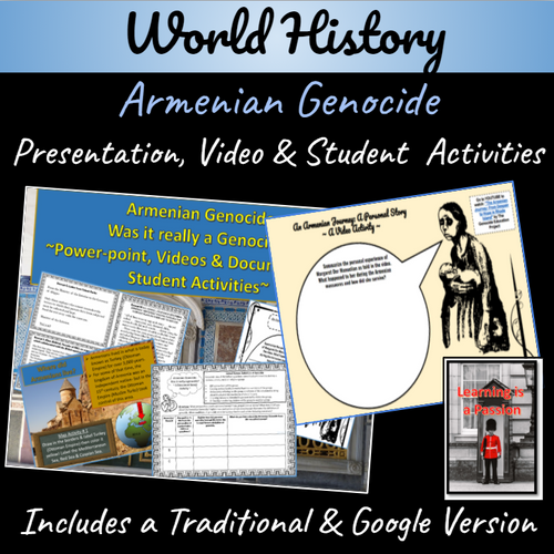 Armenian Genocide | Video & Document Based Activity | Distance Learning