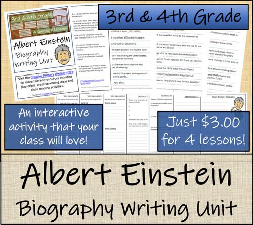 Albert Einstein - 3rd & 4th Grade Biography Writing Activity